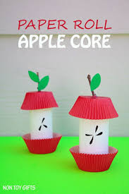 paper roll apple craft easy fall craft for and