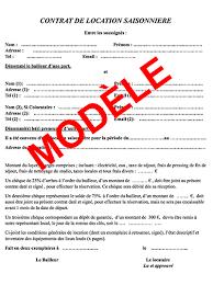 contrat location chambre chez l habitant modèle de contrat de location vacances