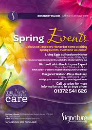 Home Design Events Uk by Spring Events At Rosebery Manor Signature Care Homes