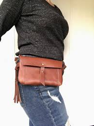 Georgia travel pouch images Leather fanny pack leather hip bag brown leather belt bag jpg