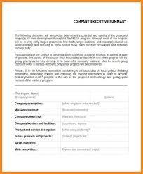 example of executive summary 31 executive summary templates free