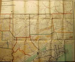 Map Of Harrisburg Pa Pennsylvania In Early Pocket Maps