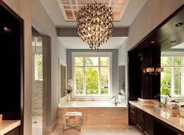 Crystal Chandelier For Bathroom 20 Gorgeous Bathroom Crystal Chandeliers Home Design Lover