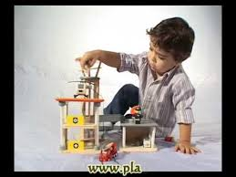 Plan Toys Parking Garage 6227 by Plantoys Wooden Toy Educational Toy 6219 Rescue Set Youtube