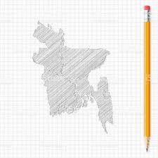 Utah Idaho Map Supply by Bangladesh Map Sketch With Pencil On Grid Paper Stock Vector Art
