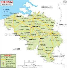 map belguim belgium road map depicts the highways and major roads of the