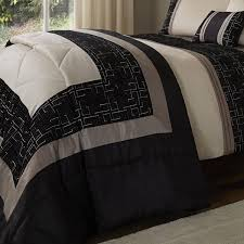 Catherine Lansfield Duvet Covers Catherine Lansfield Signature Geo Embellished Faux Silk Quilted