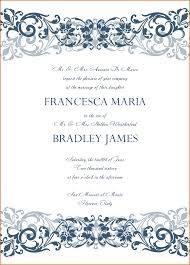 wedding invitation format 4 wedding invitation format authorizationletters org