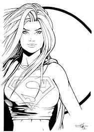 supergirl hires inks colouring comp carl riley art