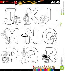 cartoon alphabet coloring page stock vector image 56456217