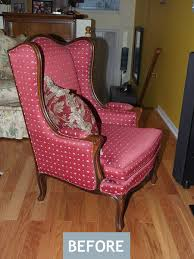 french wing chair makeover am dolce vita