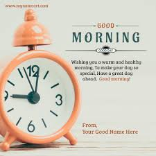 write name on clock image with warm wishes message pictures edit