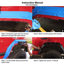 pocket rivet fender flares for 1984 2001 jeep cherokee xj 4 door