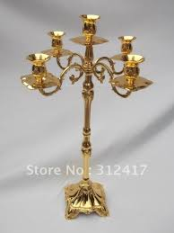 Tall Floor Standing Candelabra by Aliexpress Com Buy Wholesale Gold Pillar Candle Holders Wedding