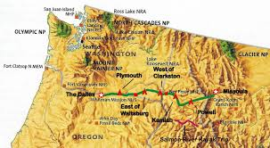 Chelan Washington Map by Bucky And His Bike