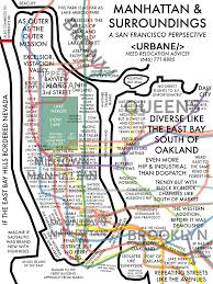 Map Of New York City Subway by Map Of New York City From A San Francisco Perspective