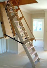 ladder to attic image of pull down attic stairs wood attic ladders