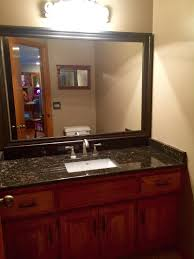 Bathroom Mirror Frame by Customer Photos Half Bath Updated With Humbolt Mirror Frame