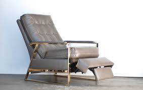 Grey Leather Recliner Baughman Grey Leather Recliner At 1stdibs