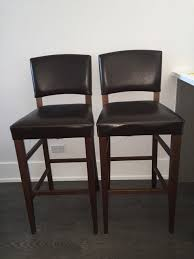 Pier One Leather Chair Pier 1 Imports Brown Leather Bar Stools In West Town Cook County