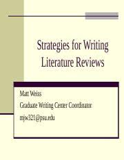How to conduct a literature review ppt   www denisshadrin com SlideShare