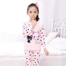 children s pajamas pink cotton fabric sleepwear pajama