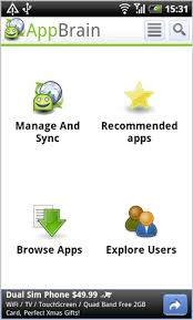 android market app appbrain app market for android