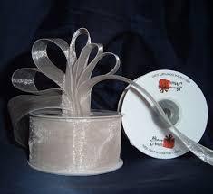 organza ribbon sheer organza ribbon 1 1 2 inch 25 yards ivory 30