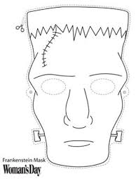 frankenstein mask frankenstein mask to color at womansday