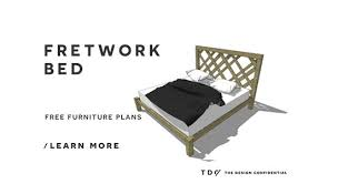 free diy furniture plans how to build a king sized fretwork bed