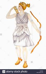 artemis greek goddess of the hunt and wild animals daughter of