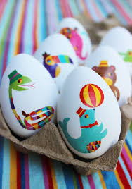 easy easter egg decorating ideas tattoo eggs splatter paint eggs
