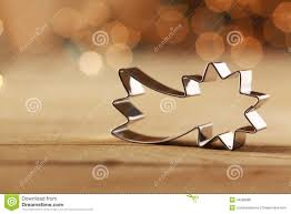 decorative shooting star christmas cookie cutter stock photo