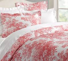 French Toile Bedding Red Toile Duvet Cover Sweetgalas