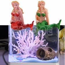resin the little aquarium fish mermaid tank decorations