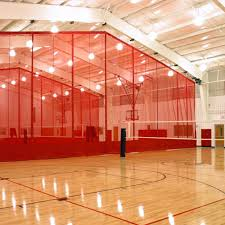 Basketball Curtains Ridge Fold Gym Divider Curtains Draper Inc