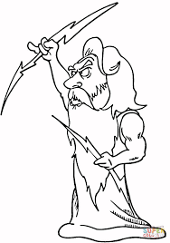 zeus coloring pages funycoloring