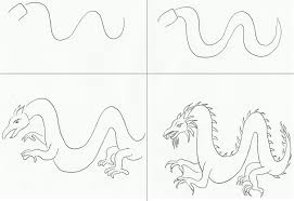 dragon drawing step by step pictures and drawings