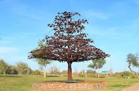 usa arizona tempe steel tree sculpture editorial image image