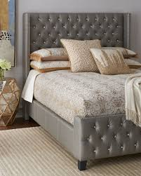 King Bed Frame With Headboard Headboard King Bed Horchow Com