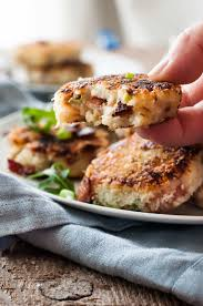 what can i make with thanksgiving leftovers leftover mashed potato cheese u0026 bacon cakes recipetin eats