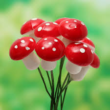 10pcs miniature plastic mushrooms moss micro landscape diy