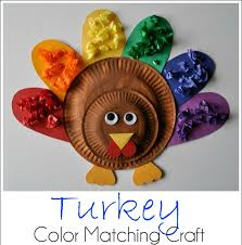 Thanksgiving Turkey Colors Turkey Color Matching Craft Cooking With Ruthie