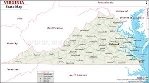 map usa virginia state state map