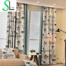 Fish Curtains Modern Curtains For Living Room Fish Printed Volie Window