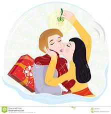 mistletoe kiss clipart clipartxtras
