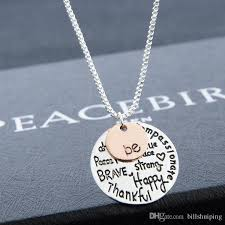 rose gold tone necklace images Wholesale two tone be inspirational necklace graffiti charm jpg