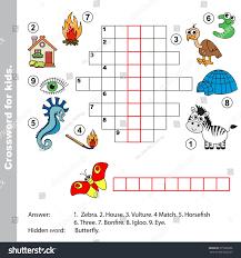 thanksgiving crossword interesting crossword kids task answer colorful stock vector
