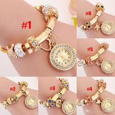 bracelet watches with charms images Luxury women watch charm bracelets watches fashion wedding jewelry jpg