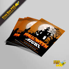 halloween night banglow flyer u2013 free bee psd